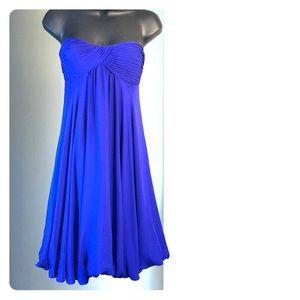 BCBG MAXAZRIA sz 4 blue strapless dress